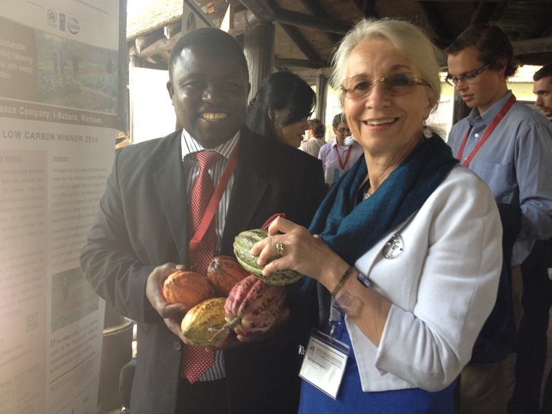 Helen Marquard with SEED Africa 2013 Award Winner Fred Walakira