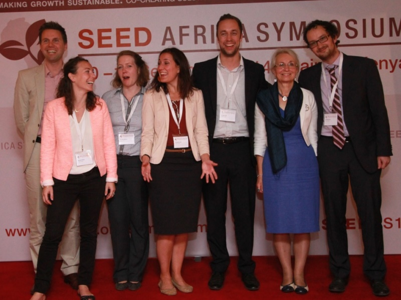 Helen Marquard with SEED Team 1